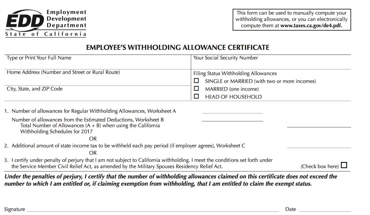 W-4 - RLE Taxes